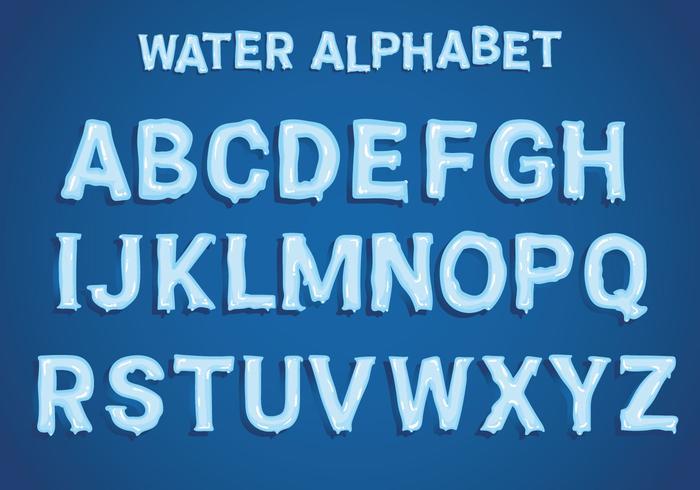 Vatten alfabet vektor