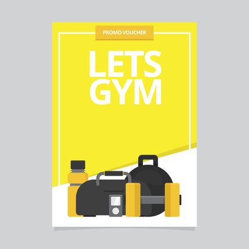 gym sport and health brochure template download free vector art