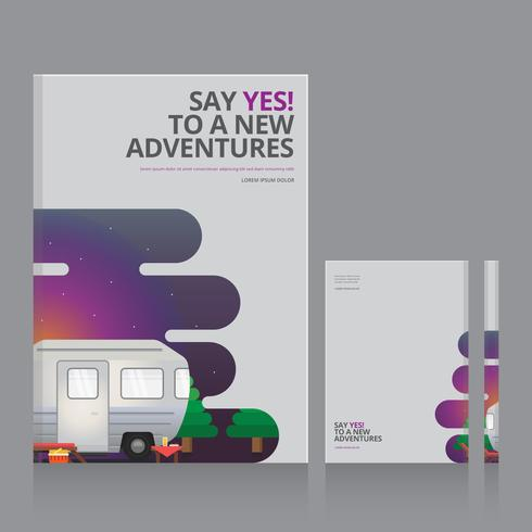 Philosophy Book with Adventure Themes Book Cover Template