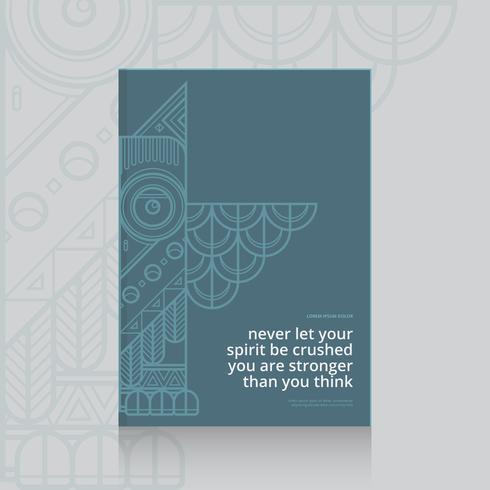 Libro de filosofía con temas de espíritu y alma Plantilla de portada del libro