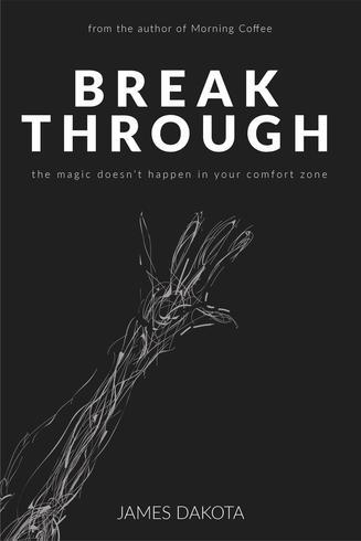 Ren och minimalistisk filosofi bokomslag design