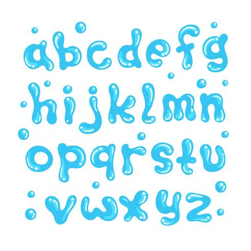 Alfabeto de agua