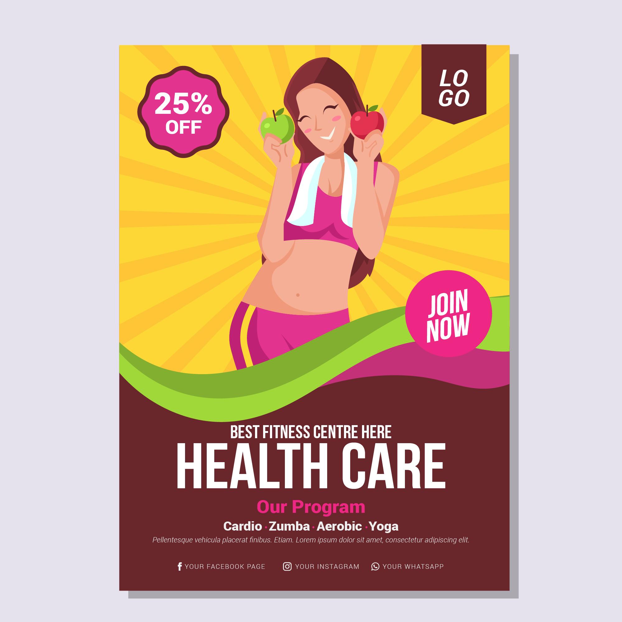 health and wellness brochure template