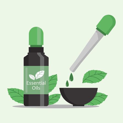Essential Oils Sale Illustration