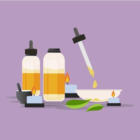Ilustración de venta de aceites esenciales