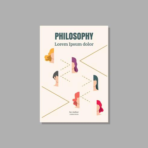 Philosophie-Bucheinband-Vektor-Illustration