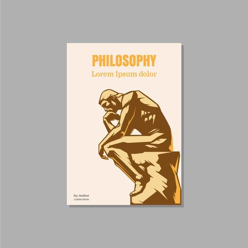 Philosophy Book Cover Vector Illustration