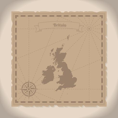 Great Britain Old Map Illustration