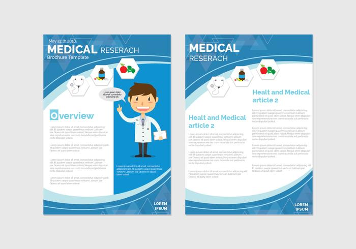 health and wellness brochure template download free vector art