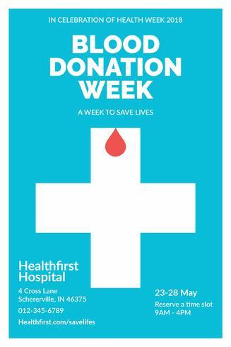 Folleto de donación de sangre limpia y minimalista