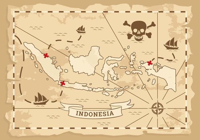 Indonesien Ancient Map Vector