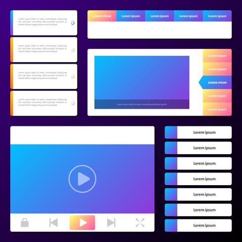 Essentiële website-interface Prototyping Mockups en Wireframes-pictogrammen