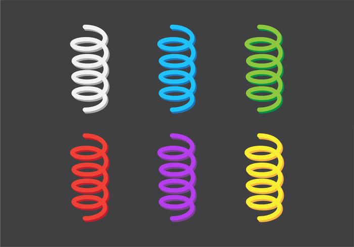 Colorful Vector Coil Spring