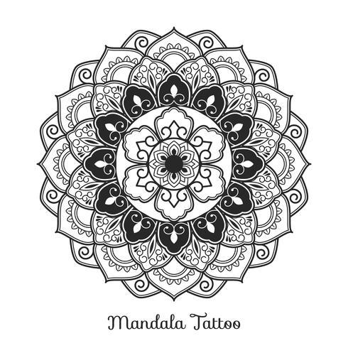 Mandala ornament. Boho-stijl achtergrondontwerp