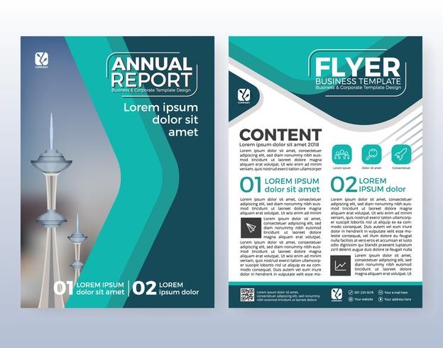 Multipurpose corporate business flyer layout design. Suitable fo