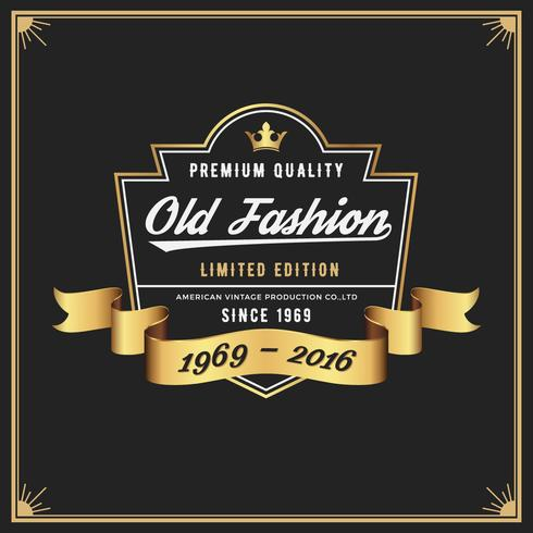 Old fashion frame & label ontwerp voor Apparel Whiskey Wine Jeans