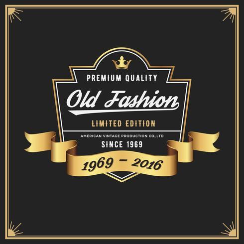 Cadre et étiquette de mode ancienne pour Apparel Whiskey Wine Jeans