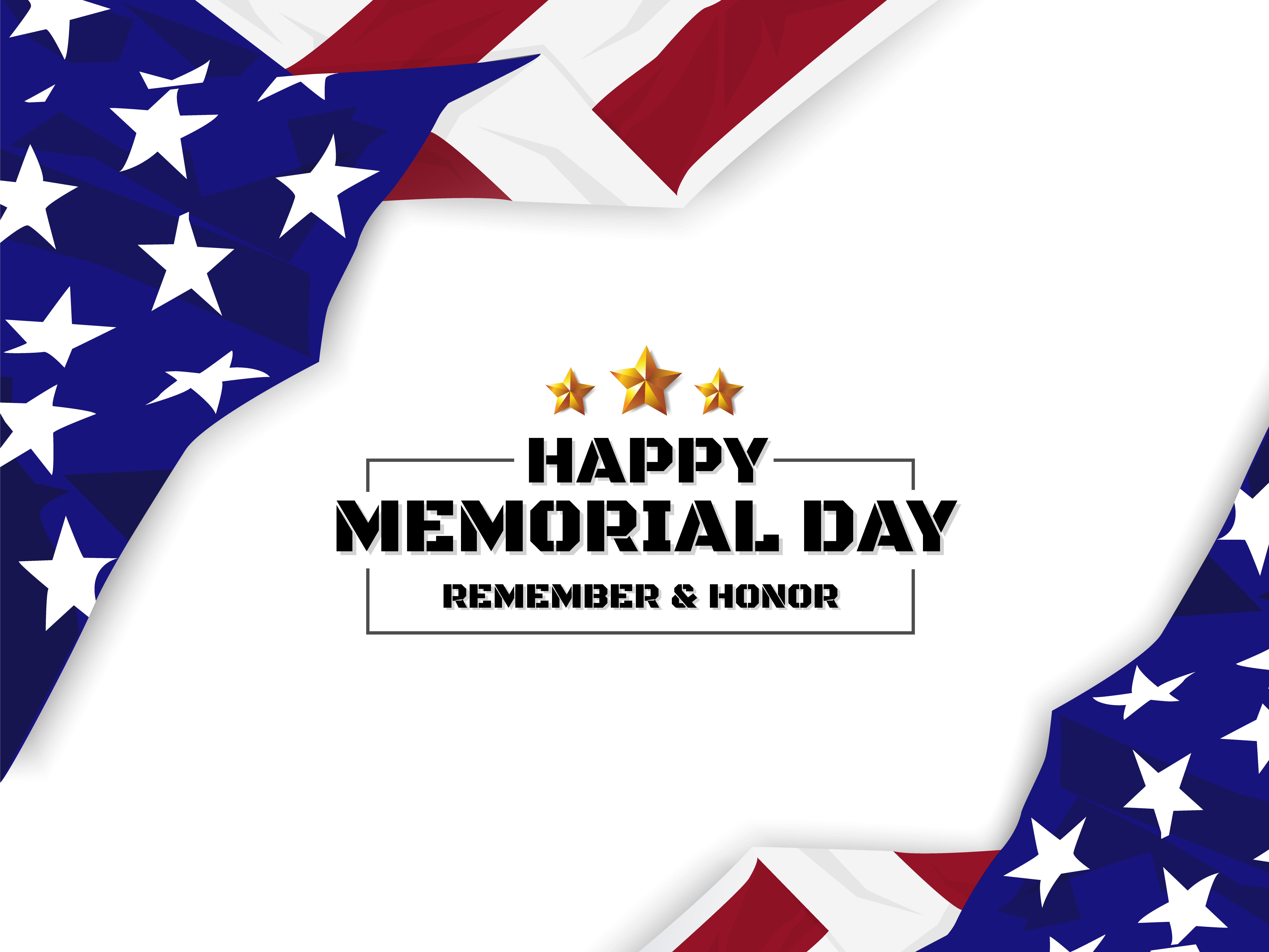 Happy Memorial Day Background Usa Flag Banner With Copy Space Download Free Vectors Clipart