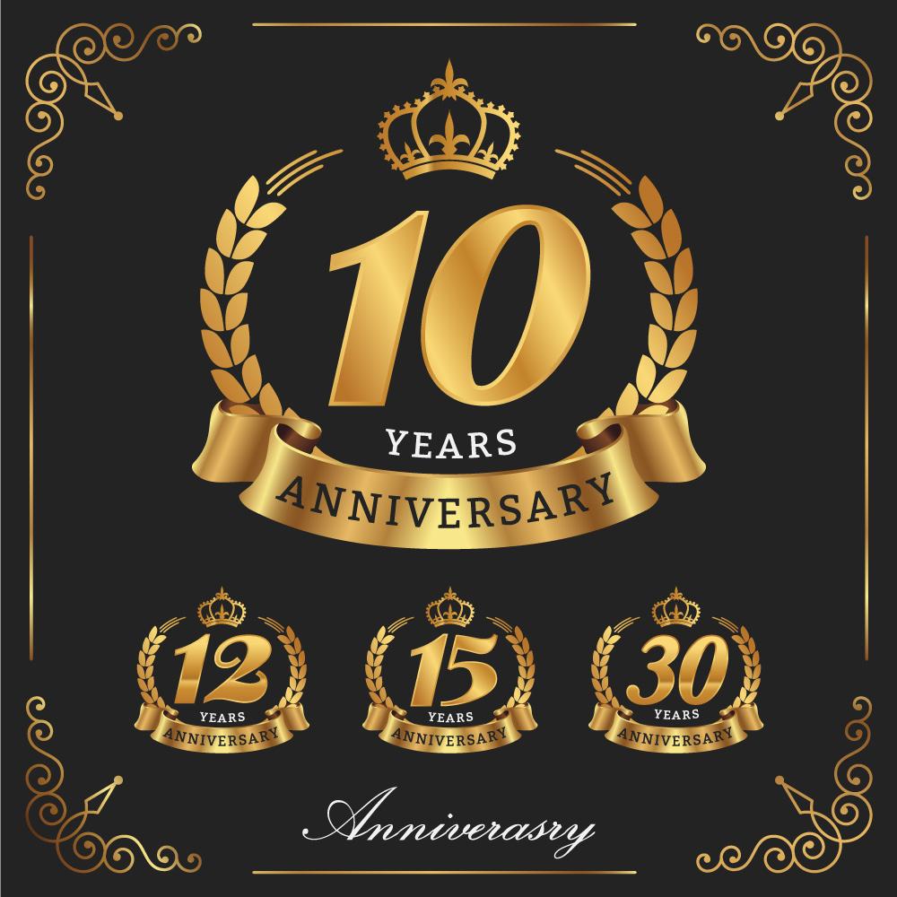 10 Years Anniversary Decorative Logo. Decorative Vector