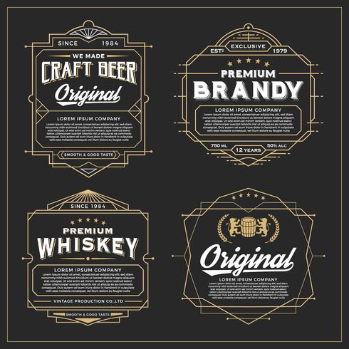 Vintage frame design for labels, banner, sticker and other desig