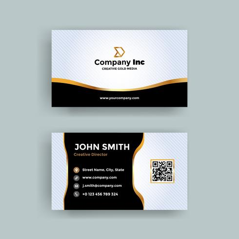 Gold Line And Black Business Card