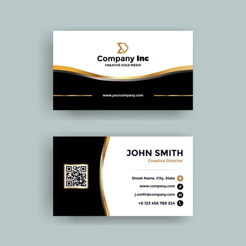 Modern Gold Business Card