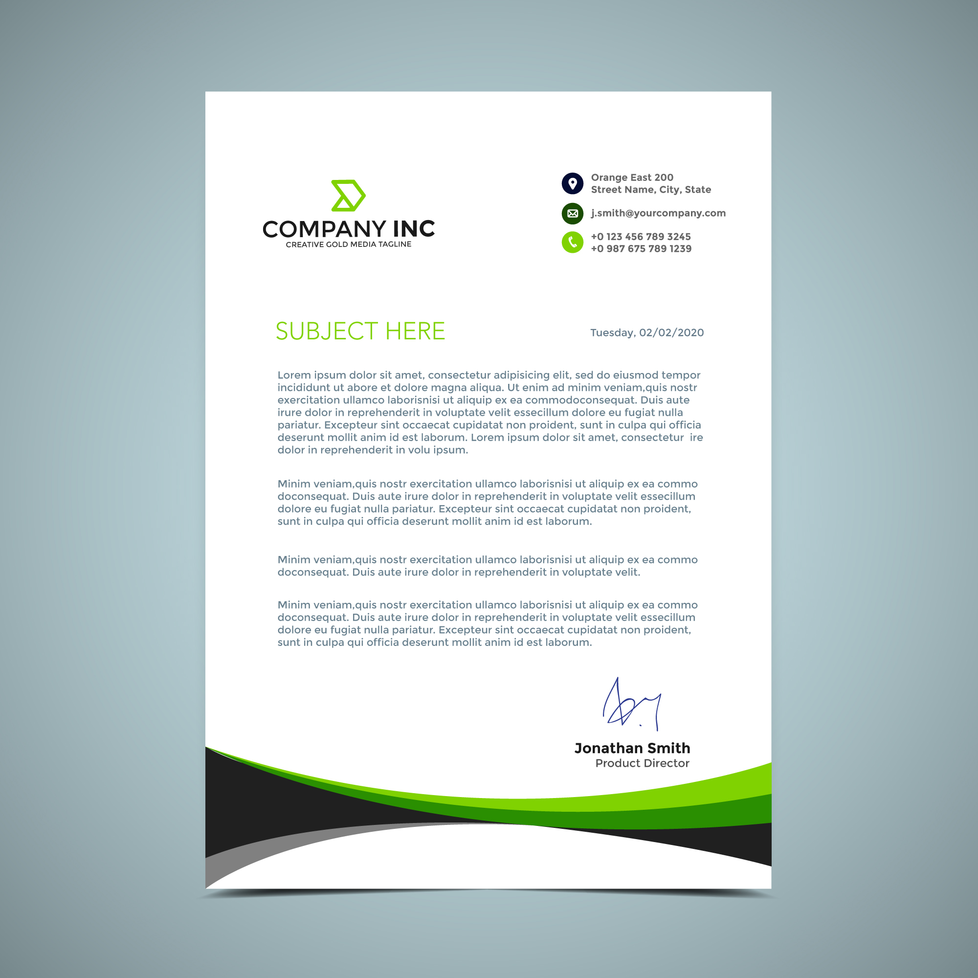 vector-green-letterhead-design T Mobile Cover Letter Template on to write, free pdf, microsoft office, google docs, sample email, just basic,