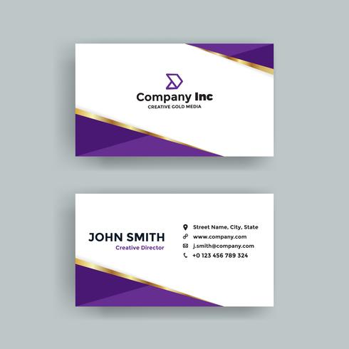 Purple Golden Business Card