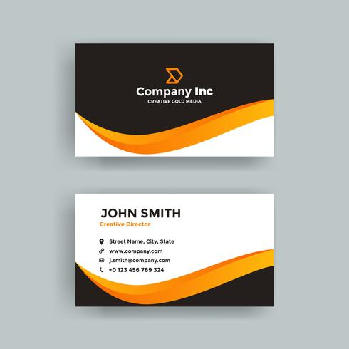 Elegant Orange Line Business Card