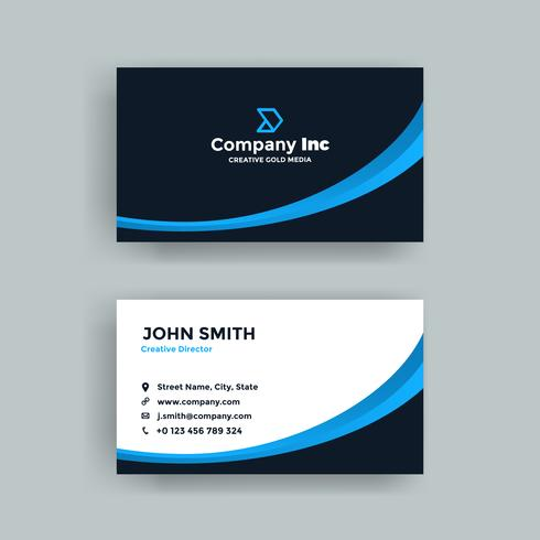 Modern Black And Blue Business Card