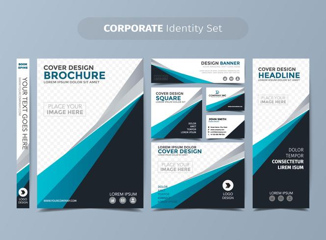 Blue Corporate Identity Set