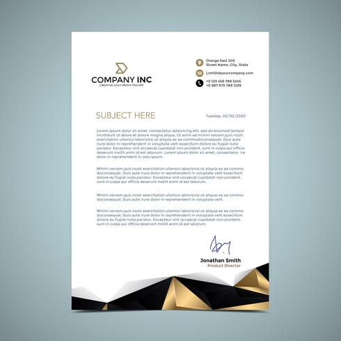 Golden Letterhead Design