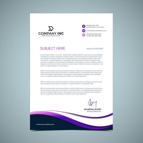 Purple Letterhead Design