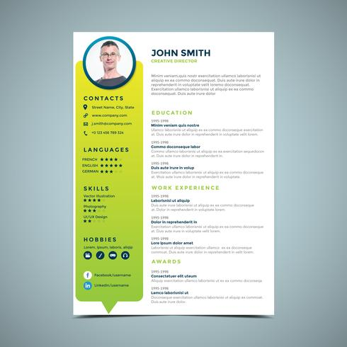 Green Circle Resume Design