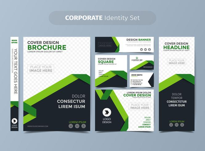 Grüne Corporate Identity Set