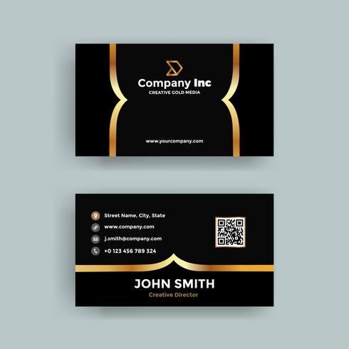 Modern black and gold business card download free vector art modern black and gold business card reheart Choice Image