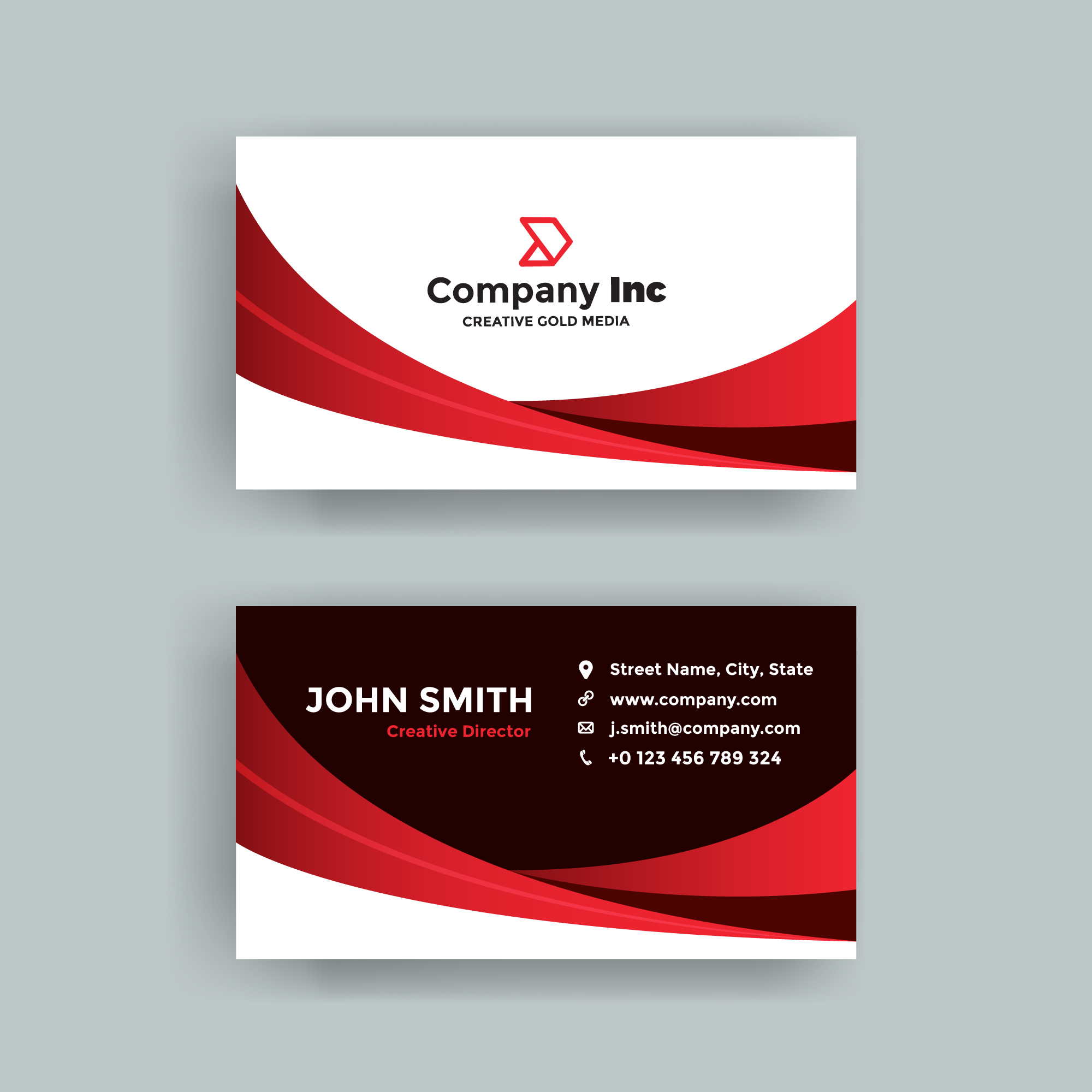 Red business card free vector art 35012 free downloads reheart Images
