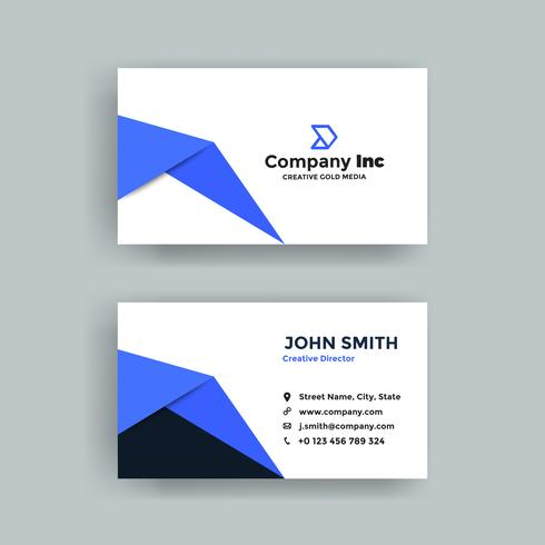 Blue Shape Business Card