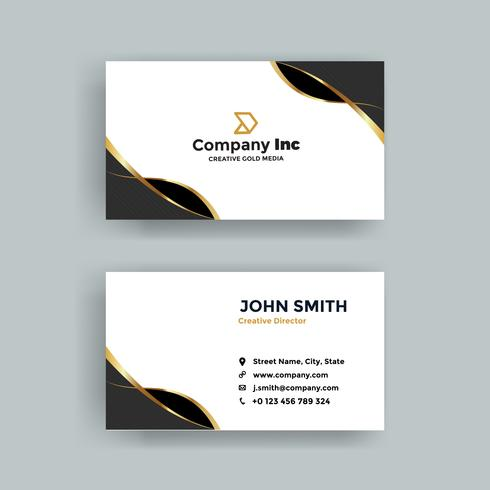 Gold And Black Ribbon Business Card