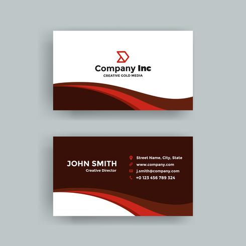Elegant Bold Red Business Card