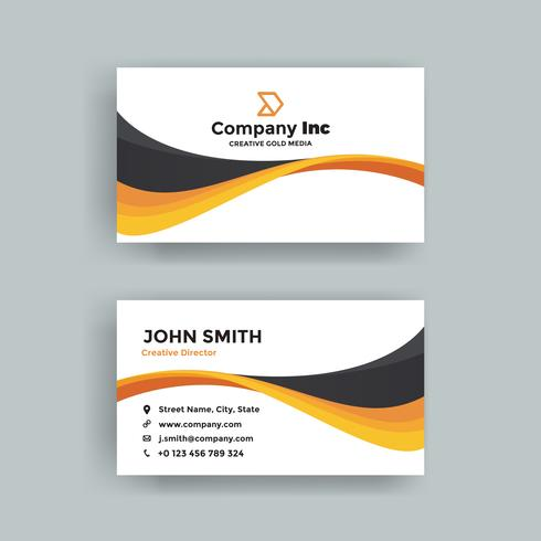 Moderne Orange And Black Business Card