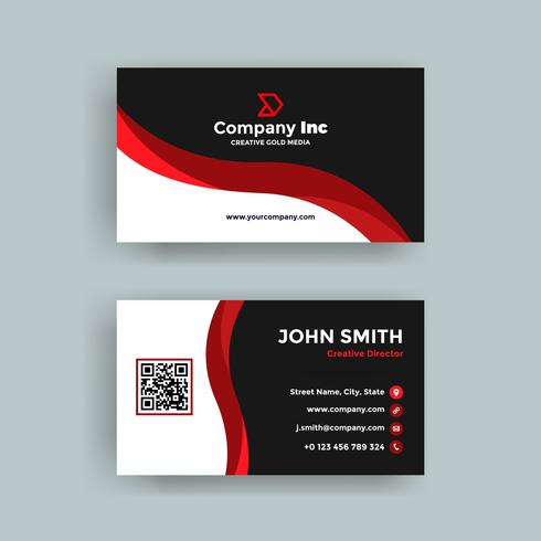 Red Line Business Card