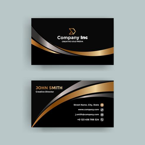 Black Elegant Business Card