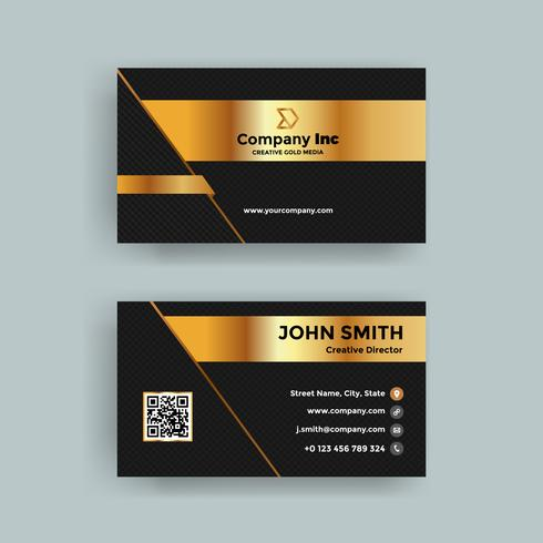 Black Grid Business Card