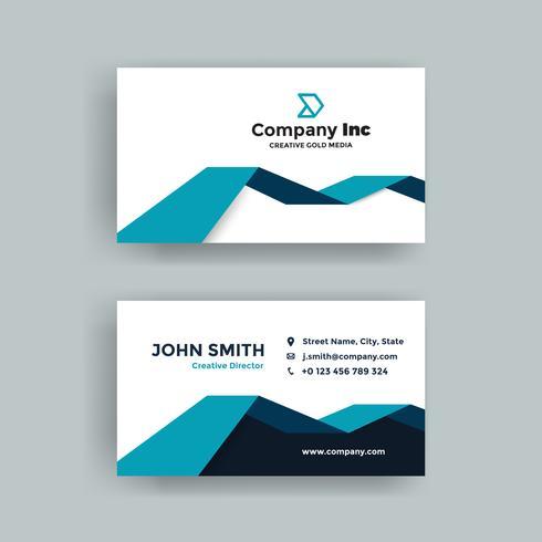 Ljusblått visitkort