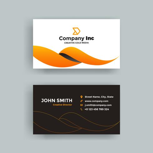 Cool Orange Business Card