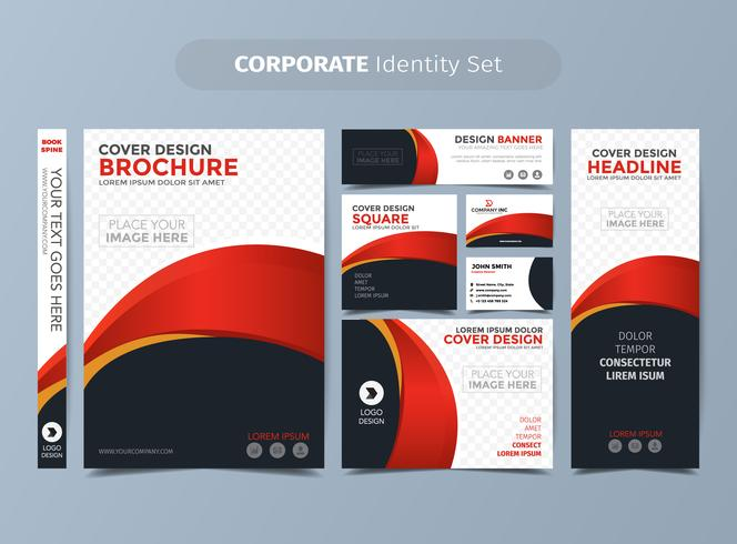 Red Corporate Identity Set