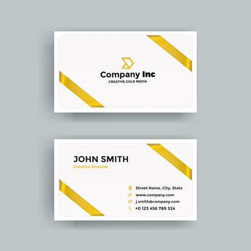 Gold Ribbon Side Business Card