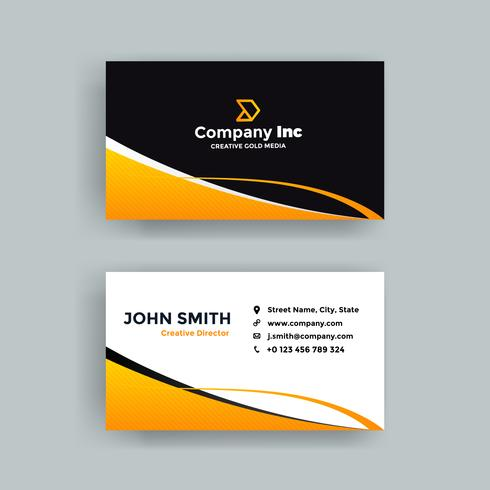 Cool Orange And Black Business Card