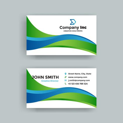 Green And Blue Business Card